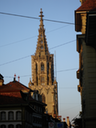 Bern Steeple Amid Wires